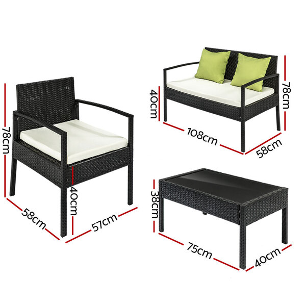 4 seater outdoor patio set afterpay zippay zipmoney