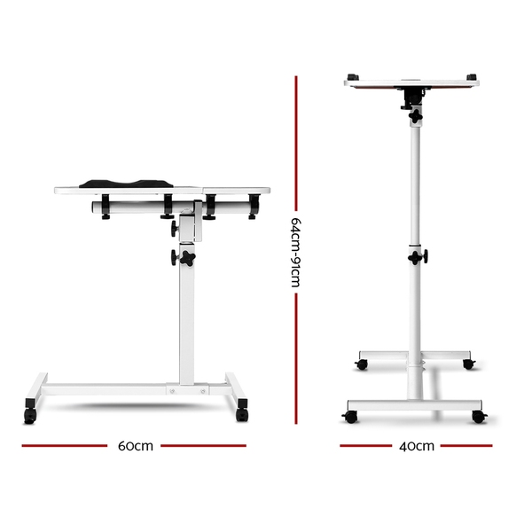 Rotating mobile laptop adjustable desk white afterpay for Furniture zippay