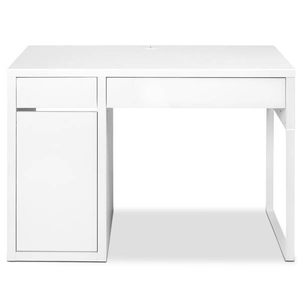 Office study computer desk cabinet white afterpay for Furniture afterpay