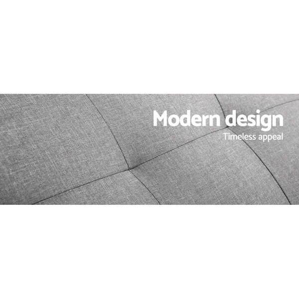 3 seater faux linen fabric sofa afterpay zippay zipmoney