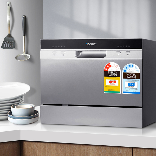Star Chef Electric Benchtop Dishwasher Silver Afterpay Zippay