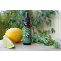 Gunners Blend Bay Rum and Lime Beard Oil 100% Natural and Organic Australian Made