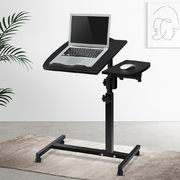 Rotating Mobile Laptop Adjustable Desk w/ USB Cooler Black