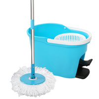 360 Degree Spinning Mop Spin Dry Bucket 8.5L Blue