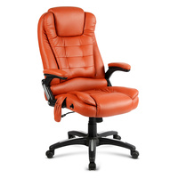 8-Point Heated Massage Office Chair Amber
