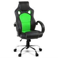 Leather Racing Office Chair - Green