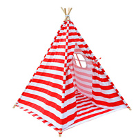 4 Poles Teepee Tent w/ Storage Bag Red