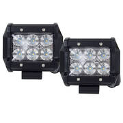 Pair 4inch 30W CREE LED Light Bar Flood Beam Offroad Work Lamp Save On 35W/45W
