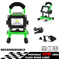 10W PORTABLE LED WORK LIGHT RECHARGEABLE FLOOD LIGHT LAMP CAMPING GREEN