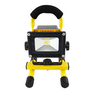 10W PORTABLE LED WORK LIGHT RECHARGEABLE FLOOD LIGHT LAMP CAMPING YELLOW