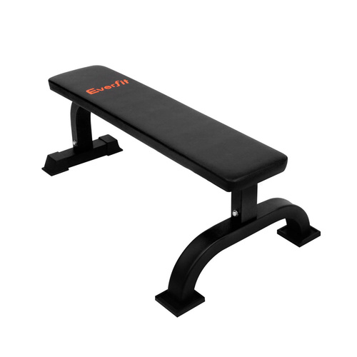 Fitness Flat Weight Bench Black Afterpay Zippay Zipmoney