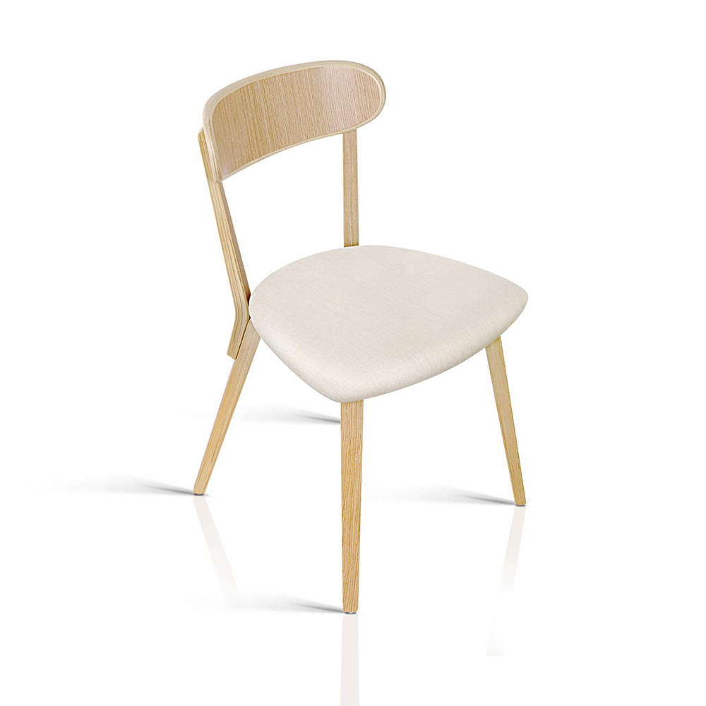 Set of 2 modern dining chairs beige afterpay zippay for Furniture zippay