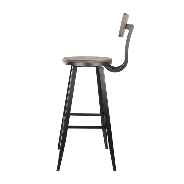 Industrial bar stool with backrest 76cm afterpay zippay for Furniture zippay
