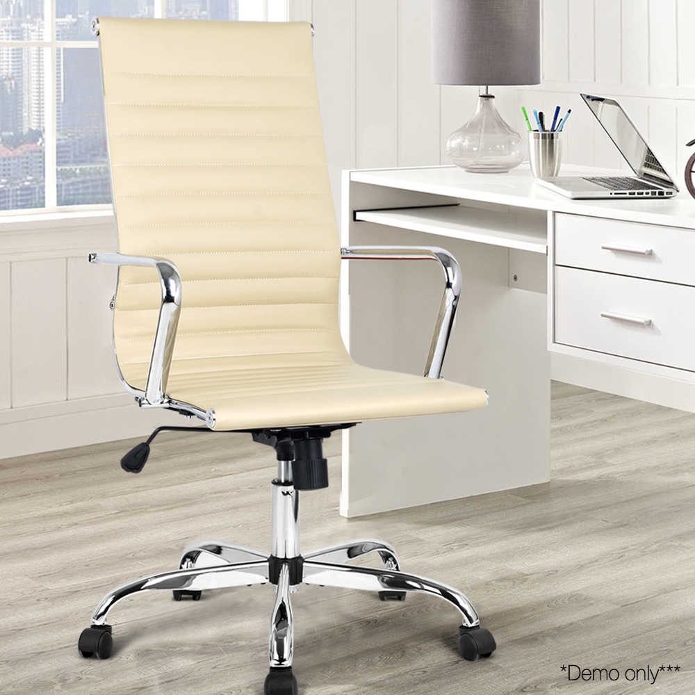 Pu leather high back office chair afterpay zippay for Furniture zipmoney