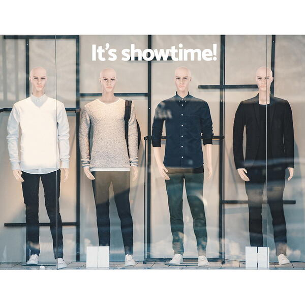 186cm Tall Full Body Male Mannequin - Skin Coloured