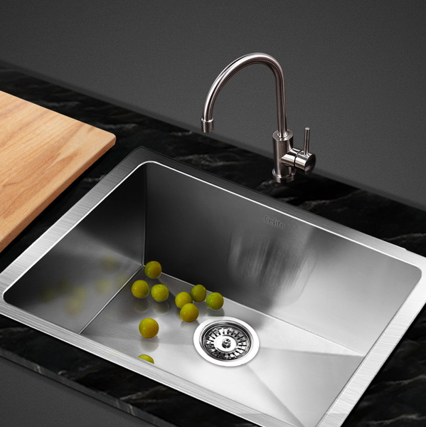 Cefito Stainless Steel Kitchen Sink 510X450MM Under/Topmount Sinks Laundry Bowl Silver
