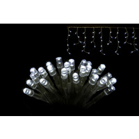 200 LED White Icicle Flashing String Lights