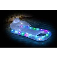Inflatable Pool Float Air Lounge with LED Lights 162 x 86cm