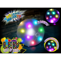 Inflatable Pool Float Beach Ball with LED Lights 61cm