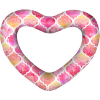 Giant Heart Swim Ring Moroccan Deflated lated Size: 160 x 135cm