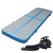 Everfit GoFun 3X1M Inflatable Air Track Mat with Pump Tumbling Gymnastics Blue