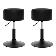 Kitchen Bar Stools Accent Chairs Gas Lift Stool Swivel Barstools Leather Black