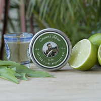 Gunners Blend 60ml Bay Rum and Lime Moustache Wax - Premium - Australian Made