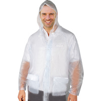Premium Raincoat Adult Male Transparent Large