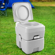 20L Portable Outdoor Toilet - Grey