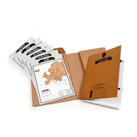 World Continent Map Travel Card Scratch Kit