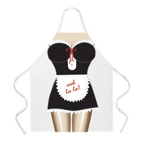 Cartoon Comic Kitchen Cooking Apron (Maid) Cotton