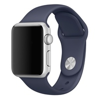 Soft Silicone Sport Style Replacement iWatch Strap for Apple Dark Blue 38mm