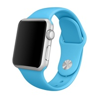 Soft Silicone Sport Style Replacement iWatch Strap Band  Blue/38mm