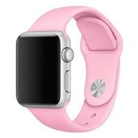 Soft Silicone Sport Style Replacement iWatch Strap Band  (Pink/38mm)