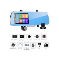 "5.0"" IPS Touch Android 4.4 ROM 8GB FHD1080P Car DVR Dual Camera GPS"