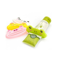 Cute Bathroom Toothpaste Tube Squeezer Green 100% BPA Free Plastic