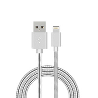 1m Flexible Metal USB iPhone Charge 8Pin Cable Apple 5 6 6s iPad iPad Mini Black