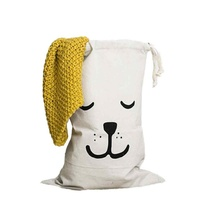 Kids Bedroom Laundry Basket Washing Washing Hamper Toy Storage Bag - Dog Design