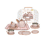 GOLD STAR TIN TEA SET IN SUITCASE