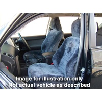 FRONT PAIR COMBINATION AUST MADE SHEEPSKIN SEAT COVERS FORD LASER HATCHBACK 4/2001 - 9/2002