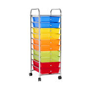 10 Drawer Kithchen Storage Trolley Cart Organizer Portable Rolling Cart