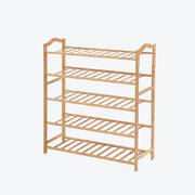 Bamboo Shoe Rack Storage Wooden Organizer Shelf Stand 5 Tiers Layers 90cm