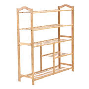 Bamboo Shoe Rack Storage Wooden Organizer Shelf Stand 5 Tiers Layers 80cm