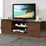 TV Cabinet Entertainment Unit Stand Side Storage Lowline Cupboard Walnut