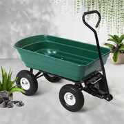 Gardeon 75L Garden Dump Cart - Green