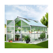 Green Fingers 3.6 x 2.5m Polycarbonate Aluminium Greenhouse
