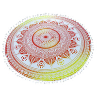 Mandala Towel with Terry Backing Sunset 180cm