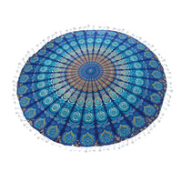 Mandala Towel with Terry Backing Ocean 180cm