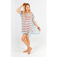 White Stripes Beach Dress One Size Fits Most
