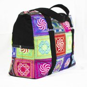 Embroidered Design Overnight Bag